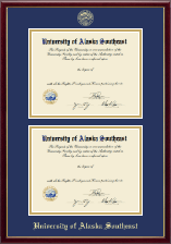 University of Alaska Southeast Diploma Frame - Double Diploma Frame in Galleria