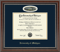 The University of Michigan Diploma Frame - Stadium Campus Cameo Diploma Frame in Chateau