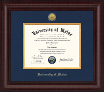 The University of Maine Orono Diploma Frame - Presidential Gold Engraved Diploma Frame in Premier