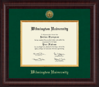 Wilmington University Diploma Frame - Presidential Gold Engraved Diploma Frame in Premier