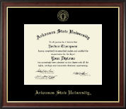Arkansas State University at Jonesboro Diploma Frame - Gold Embossed Diploma Frame in Studio Gold
