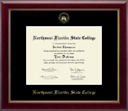 Northwest Florida State College Diploma Frame - Gold Embossed Diploma Frame in Gallery