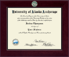University of Alaska Anchorage Diploma Frame - Century Masterpiece Diploma Frame in Cordova