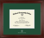 Oakland Community College Diploma Frame - Silver Embossed Diploma Frame in Sierra
