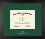 Oakland Community College Diploma Frame - Silver Embossed Diploma Frame in Arena