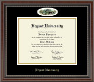 Bryant University Diploma Frame - Campus Cameo Diploma Frame in Chateau