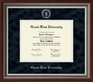 Grand View University Diploma Frame - Silver Embossed Diploma Frame in Devonshire