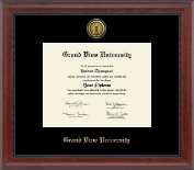 Grand View University Diploma Frame - Gold Engraved Medallion Diploma Frame in Signature
