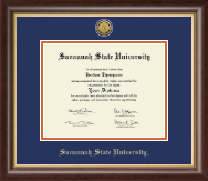 Savannah State University Diploma Frame - Gold Engraved Medallion Diploma Frame in Hampshire