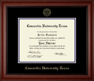 Concordia University Texas Diploma Frame - Gold Embossed Diploma Frame in Cambridge