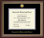 Concordia University Texas Diploma Frame - Gold Engraved Diploma Frame in Hampshire