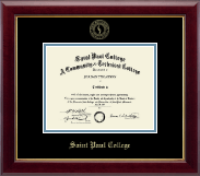 Saint Paul College Diploma Frame - Gold Embossed Diploma Frame in Gallery