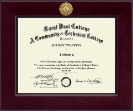 Saint Paul College Diploma Frame - Century Gold Engraved Diploma Frame in Cordova