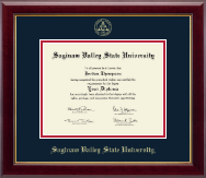 Saginaw Valley State University Diploma Frame - Gold Embossed Diploma Frame in Gallery