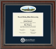 Grand Valley State University Diploma Frame - Campus Cameo Diploma Frame in Chateau