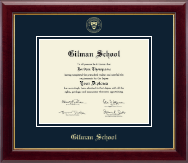 Gilman School Diploma Frame - Gold Embossed Diploma Frame in Gallery