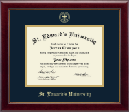 St. Edward's University Diploma Frame - Gold Embossed Diploma Frame in Gallery