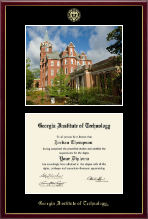 Georgia Institute of Technology Diploma Frame - Campus Scene Diploma Frame in Galleria