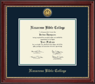 Nazarene Bible College Diploma Frame - Gold Engraved Diploma Frame in Kensington Gold