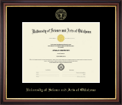 University of Science and Arts of Oklahoma Diploma Frame - Gold Embossed Diploma Frame in Regency Gold