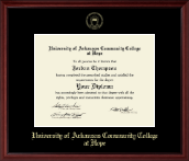 University of Arkansas Community College at Hope Diploma Frame - Gold Embossed Diploma Frame in Camby