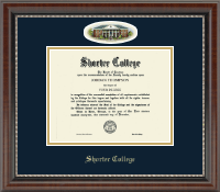 Shorter College Diploma Frame - Campus Cameo Diploma Frame in Chateau