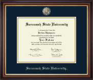 Savannah State University Diploma Frame - Masterpiece Medallion Diploma Frame in Regency Gold
