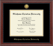 Oklahoma Christian University Diploma Frame - Gold Engraved Diploma Frame in Signature