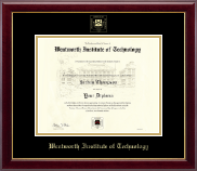 Wentworth Institute of Technology Diploma Frame - Gold Embossed Diploma Frame in Gallery