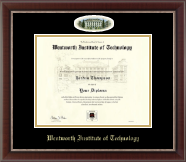 Wentworth Institute of Technology Diploma Frame - Campus Cameo Diploma Frame in Chateau