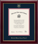 United States Coast Guard Certificate Frame - Gold Embossed Certificate Frame - Vertical in Gallery