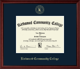 Kirkwood Community College Diploma Frame - Gold Embossed Diploma Frame in Camby