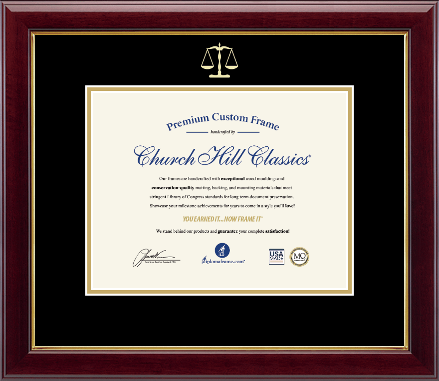 Legal Diploma Frames And Gifts Gold Embossed Law School