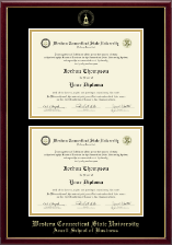 Western Connecticut State University Diploma Frame - Double Document Diploma Frame in Galleria