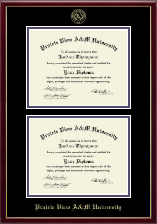 Prairie View A&M University Diploma Frame - Double Diploma Frame in Galleria