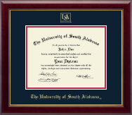 University of South Alabama Diploma Frame - Gold Embossed Diploma Frame in Gallery