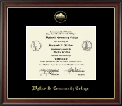 Wytheville Community College Diploma Frame - Gold Embossed Diploma Frame in Studio Gold