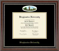 Binghamton University - State of New York Diploma Frame - Campus Cameo Diploma Frame in Chateau