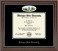 Michigan State University Diploma Frame - Campus Cameo Diploma Frame in Chateau