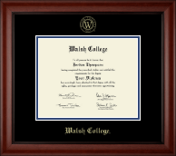 Walsh College Diploma Frame - Gold Embossed Diploma Frame in Cambridge