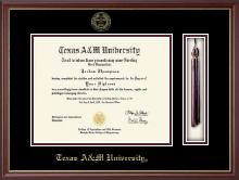 Texas A&M University Diploma Frame - Tassel Edition Diploma Frame in Newport