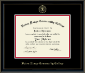 Baton Rouge Community College Diploma Frame - Gold Embossed Diploma Frame in Onexa Gold