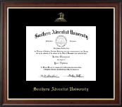 Southern Adventist University Diploma Frame - Gold Embossed Diploma Frame in Studio Gold