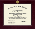 University of West Florida Diploma Frame - Century Gold Engraved Diploma Frame in Cordova