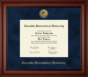 Columbia International University Diploma Frame - Gold Engraved Medallion Diploma Frame in Cambridge