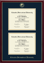 Columbia International University Diploma Frame - Double Diploma Frame in Galleria