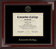 Concordia College Moorhead Diploma Frame - Gold Embossed Diploma Frame in Encore