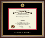 University of Maryland, College Park Diploma Frame - Gold Engraved Medallion Diploma Frame in Hampshire