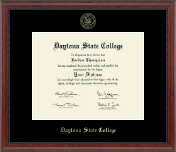 Daytona State College Diploma Frame - Gold Embossed Diploma Frame in Signature