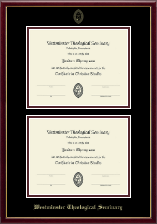 Westminster Theological Seminary Certificate Frame - Double Certificate Frame in Galleria